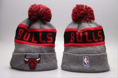 Chicago Bulls NBA Cuffed Pom Swril Hat Cap Toque Beanie Knit Lint Cap 816f2d13befd