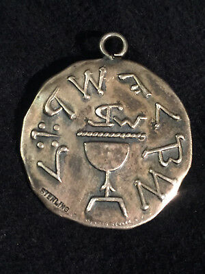 Vintage Sterling Silver Masonic Medal/Medallion/Coin Crafted by Whitehead & Hoag
