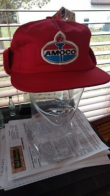 Vintage AMOCO Ear Muffs Hat New Old Stock Rare Find  K Products
