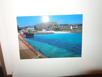 IONA, PIER:& Village  Isle of Barra postcard  by Martin Guppy PP