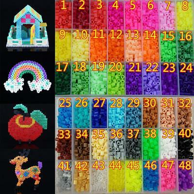 5MM 500PCS Plastic Perler Fuse Beads Toys Funny For Kid DIY Crafts Gift 50 Color