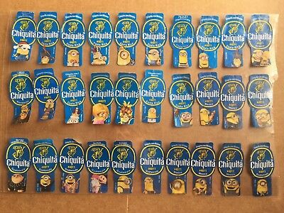 30 Different Chiquita Banana Labels Stickers - Minions