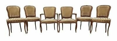Set of Six French Antique Louis Dining Chairs Two Armchairs Four Side Chairs