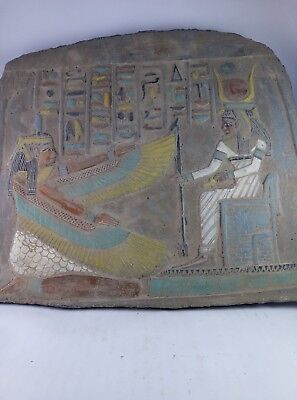RARE ANCIENT EGYPTIAN ANTIQUE Egypt Stone Stela Winged Goddess Isis 2023 Bc