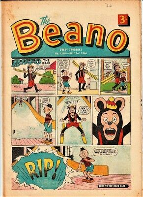 BEANO  # 1240 April 23rd 1966 issue the comic
