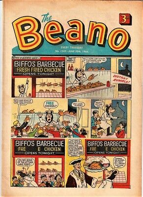 BEANO  # 1249 June 25th 1966 issue the comic