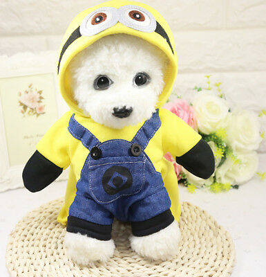 Cute Small Pet Dog Clothes Hoodie Coat Cartoon Costume Puppy Cat Winter Apparel