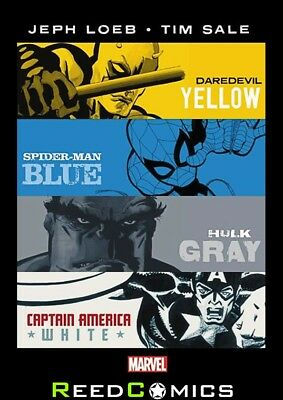 JEPH LOEB TIM SALE YELLOW BLUE GRAY AND WHITE OMNIBUS HARDCOVER (664 Pages)