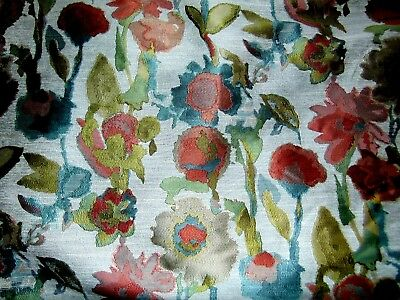 """Woven """"illimination Coral"""" Patterned Upholstery = 3 1/6 Yards X 57 Inches"""