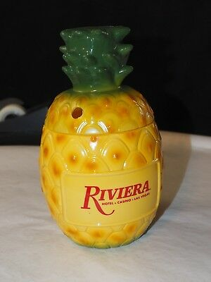 Vintage Riviera Hotel and Casino Las Vegas  pineapple Drinking Glass with lid