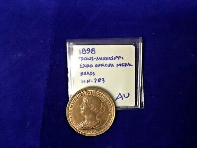 1898 Trans-Mississippi Expo Official Brass Medal