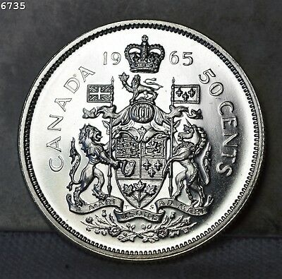 """1965 *Silver* Canada Fifty Cents """"GEM Proof"""" *Free S/H After 1st Item*"""