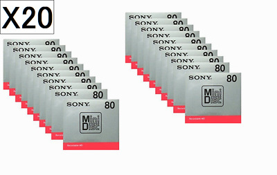 JAPAN Sony MD Blank Minidisc 80 Minutes Recordable MD MDW80T 20 PCS