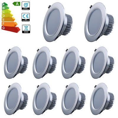 10x 12W LED Recessed Ceiling Light Day White Spotlight Downlight Driver Pnael