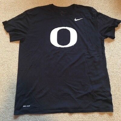 607777aa Nike Oregon Ducks Basketball Team Issued Short Sleeve Tee Shirt Black Dri- Fit XL
