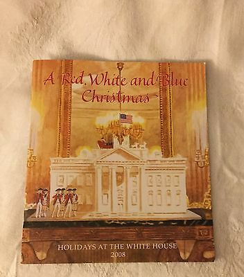 Bush White House  2008 Christmas  Booklet Card Gw Laura Signed Usa Tour Holiday