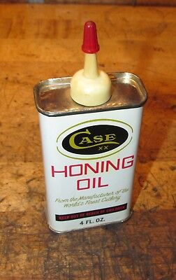 Vintage Case XX Honing Oil 4 Oz. Can, Excellent Condition!