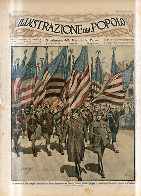 1922 AMERICANS WHO FOUGHT IN FRANCE WW1 PARADE IN BROOKLYN NEW YORK USA Print