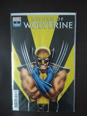 Return of Wolverine #1 (2018, Marvel) 1:50 Variant Cover - NM!! Awesome Cover!!!