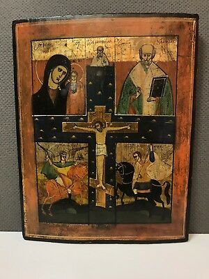 CA 17-18  ANTIQUE RUSSIAN ORTHODOX  ICON 36 X 28 X 1,7 cm