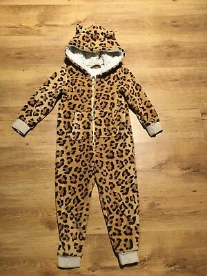 Girls Blue Zoo Leopard Print All In One Age 5-6y