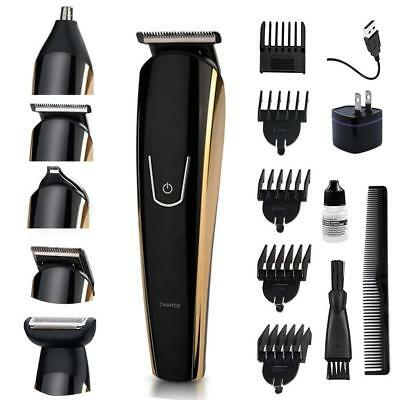 5 in 1 Mens Beard Trimmer Kit Rechargeable Body Mustache Trimmer Nose/Ear Hair