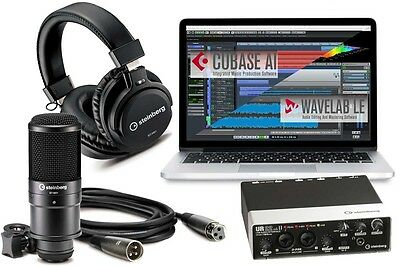 STEINBERG UR22MKII RECORDING PACK Interface, Mic, Headphone & Cubase LE Software