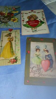 Vintage valentine cards lot