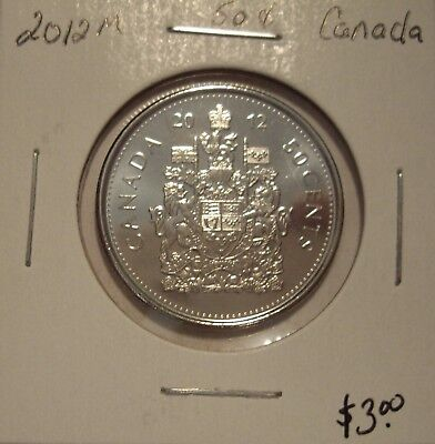 Canada Elizabeth II 2012M Fifty Cents From Mint Roll