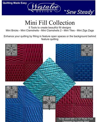 Westalee Design Free Motion Quilting Templates Mini Fills 5 Piece Set