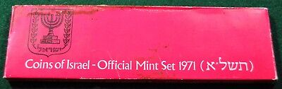 1971 Coins of Israel - Official Mint Set - 6 Coins