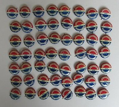 Group of 56 Lyndon Johnson and Hubert Humphrey 1964 Campaign Buttons