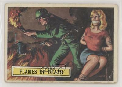1965 Topps Battle: The Story World War II 52 Flames of Death Non-Sports Card 0s4