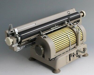 Very rare Antique Vintage Japanese TOSHIBA TYPEWRITER Large Wide 1404 letters