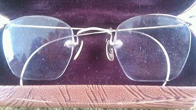 Vintage Wire  Eyeglasses 1940's with Receipt and Case