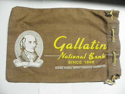 #2 VINTAGE GALLATIN NATIONAL BANK Bag - CANVAS EXCELLENT CONDITION