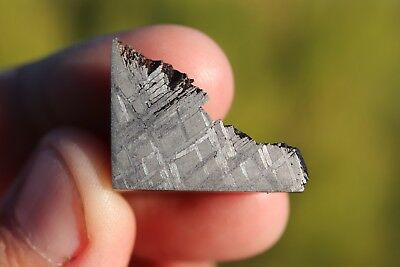 Muonionalusta meteorite etched end cut 8.4 grams!