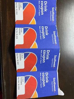 Southwest Airlines drink tickets coupon