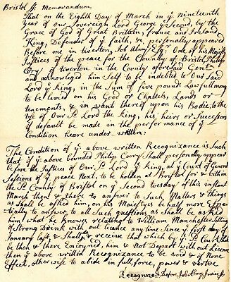 1746 COL AM Doc>WILLIAM MANCHESTER SELLING OF STRONG DRINK WITHOUT LICENSE!