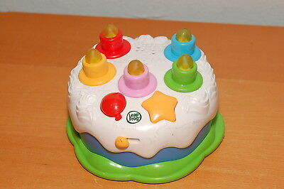 SPANISH Leapfrog Learning Counting Candles Birthday Cake Light Blow Out Musical