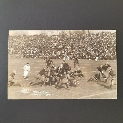 1919 University of Illinois Homecoming Football Game Action Real Photo Postcard