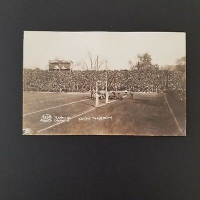 1919 University of Illinois Homecoming Football Game Real Photo Postcard RPPC