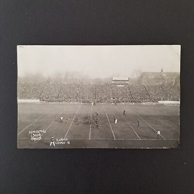 1921 University of Illinois Homecoming Football Game Action Real Photo Postcard
