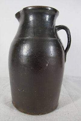 Antique Early 1900's North Carolina 2 Gallon Stoneware Pitcher Casey Meaders yqz