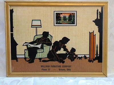 Vintage 6x8 Advertising Silhouette Picture William Furn Co. Phone 11 Urbana Oh.