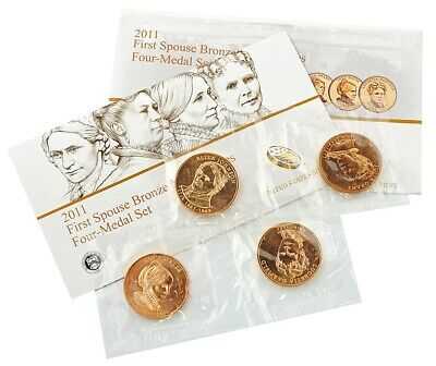 2011 FIRST SPOUSE BRONZE MEDAL-4 Medals Set / Excellent Condition