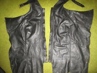 Pre owned leather chaps women/men