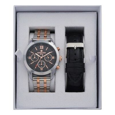 Minster 1949 MN-SET15 Mens Watch and Strap Gift Set