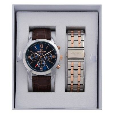 Minster 1949 MN-SET6 Mens Watch and Strap Gift Set