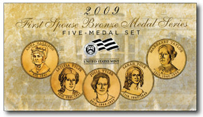 2009 FIRST SPOUSE BRONZE MEDAL-5 Medals Set / Excellent Condition